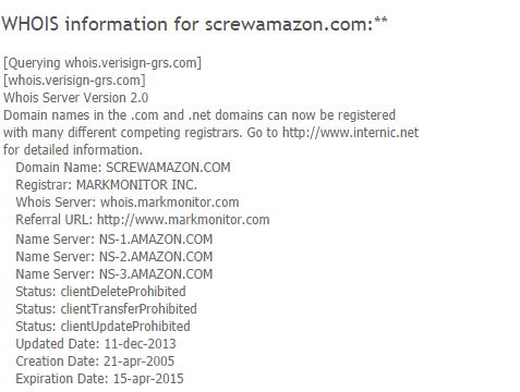 Capture16 أمازون تملك أسماء نطاقات مسيئة لها