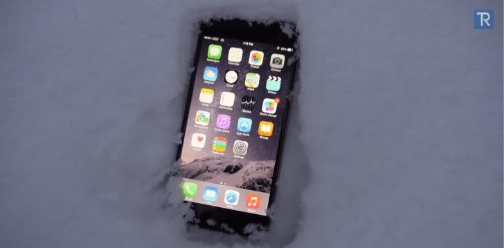 آيفون 6 بلس تحت الجليد