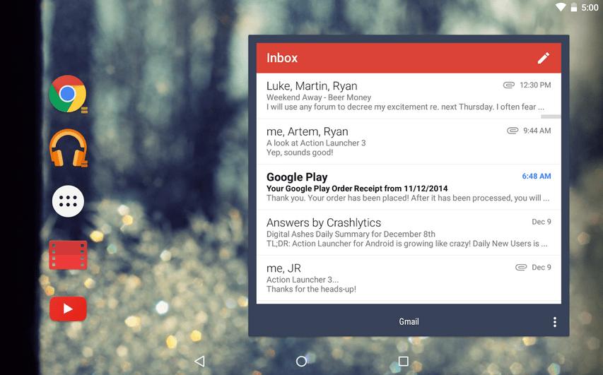 تطبيق اللانشر Action Launcher 3 يدعم الآن التكامل مع خدمة قوقل ناو وأكثر