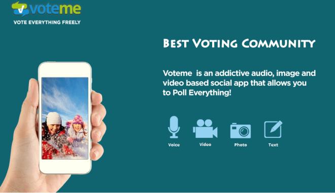 """فوت مي """"voteme"""" أول تطبيق إقتراع وإستفتاء بإيدي عربية على iOS"""