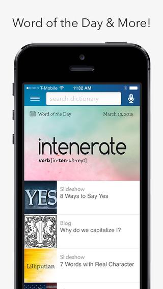 Dictionary تطبيق لترجمة الكلمات وتعلّمها وأكثر على iOS