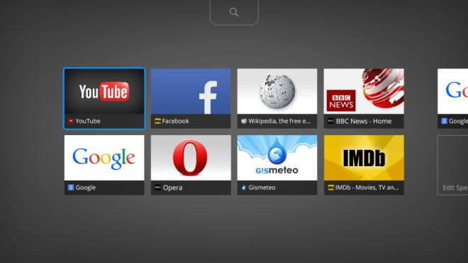 طرح متصفح أوبرا الخاص بأجهزة تلفاز أندرويد
