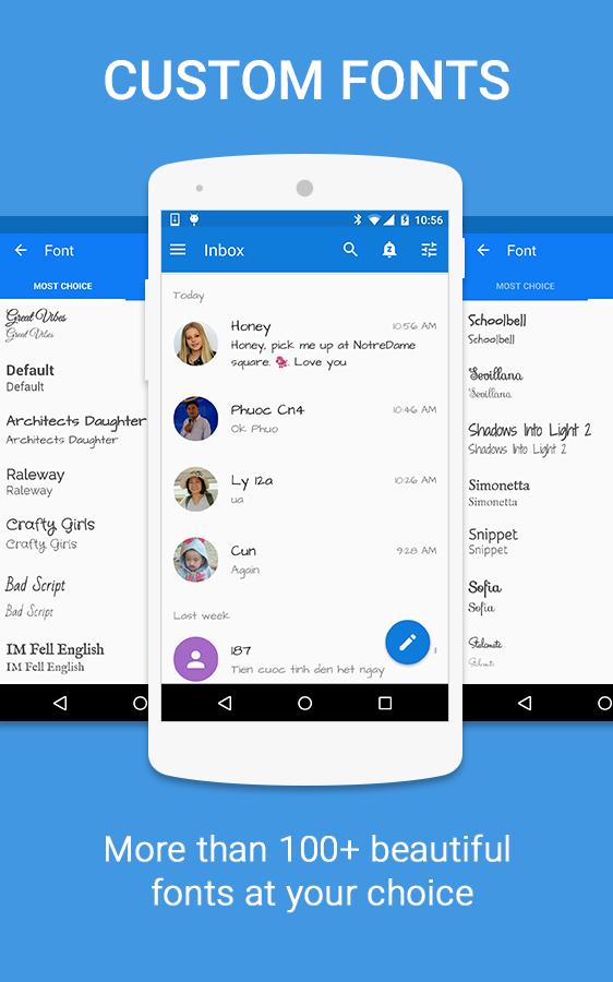 تطبيق الرسائل SMS+ لإضفاء المتعة والطابع الشخصي على أندرويد