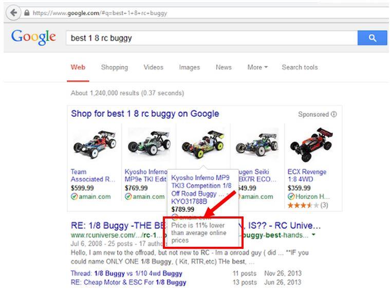 google-price-comparisons