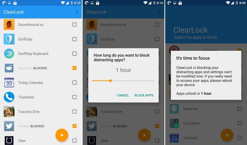 ClearLock على أندرويد لمنع إستخدام التطبيقات التي تشتت إنتبهاك