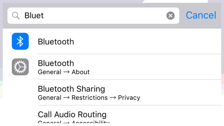Search in Settings