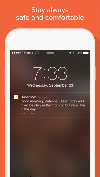 تطبيق Sunshine على آيفون يمتلك أحدث التقنيات لعرض توقعات الطقس