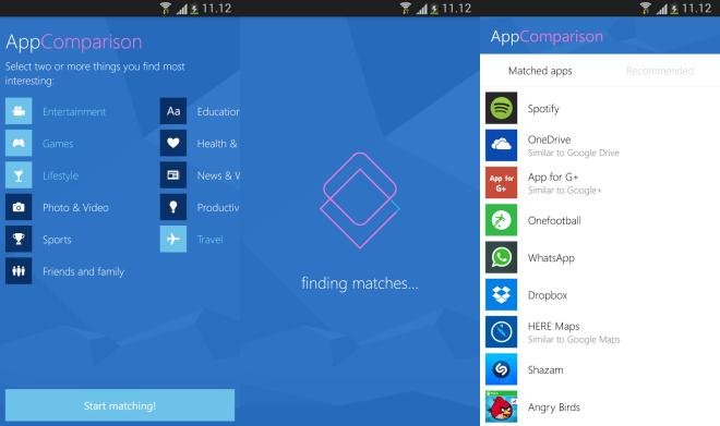 AppCompare من مايكروسوفت لمعرفة أي تطبيقات اندرويد متاحة على ويندوز