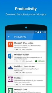 Microsoft Apps على أندرويد للمساعدة بالعثور وتحميل تطبيقات مايكروسوفت
