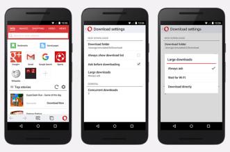 Opera Mini على أندرويد يجلب خيارات جديدة في مدير التحميل وأكثر