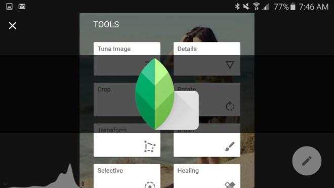 تطبيق محرر الصور Snapseed يُحسّن من تحرير الصور الخام RAW