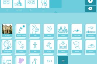 لوحة SwiftKey Symbols من سويفت كي موجّهة للأطفال ذوي إعاقة التوحد