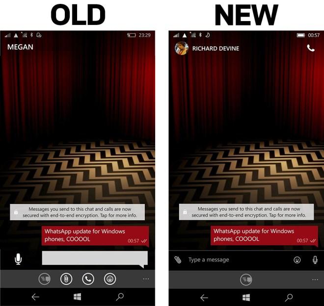 تطبيق واتساب على هواتف ويندوز فون يحصل على واجهة جديدة كليًا