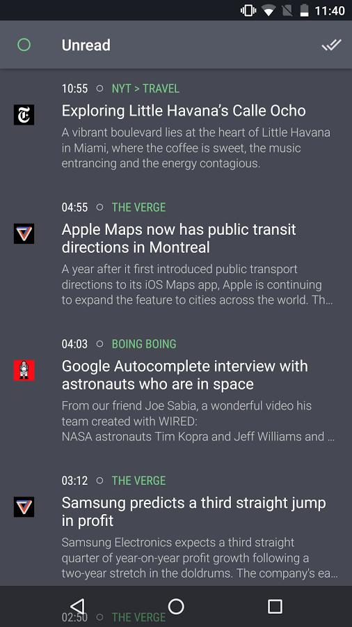 Newsfold أحد تطبيقات قراءة الأخبار لحسابات Feedly و Inoreader في أندرويد