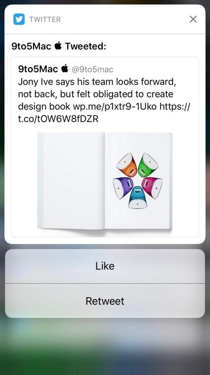 تويتر على iOS 10 فأحدث تُدخل ميزة الإخطارات التفاعلية