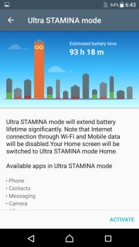 Ultra STAMINA mode