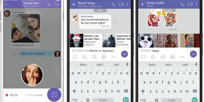 تحديث فايبر مع رسائل الفيديو الفورية وخدمات جديدة للدردشة