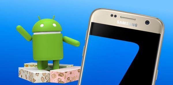 Samsung Galaxy S7 أندرويد نوجا
