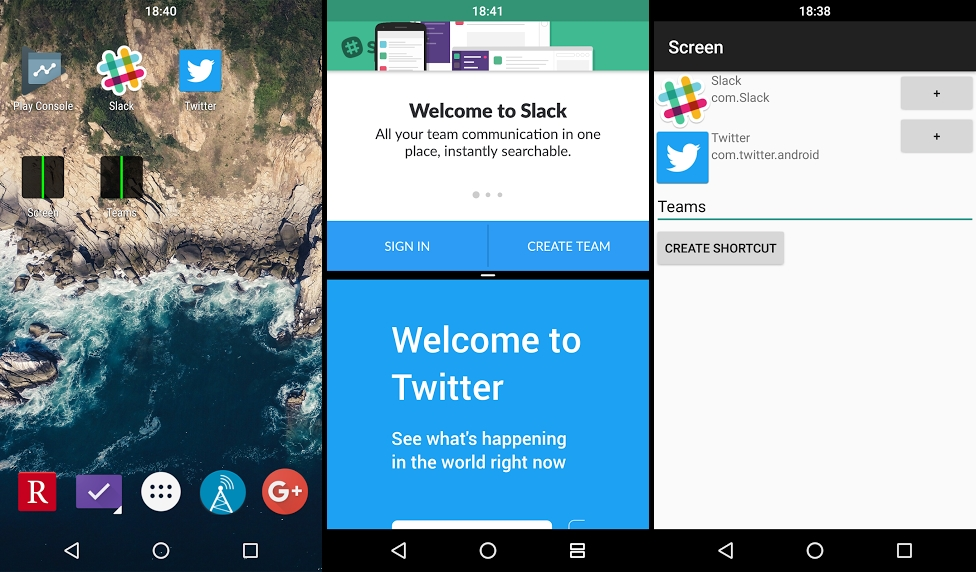 تطبيق Screens لإنشاء إختصار Split-Screen في أندرويد