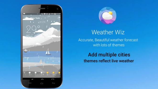 """تطبيق الطقس الجديد Weather Wiz على أندرويد """"مميز"""""""