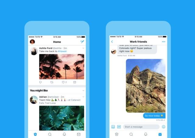 تويتر على iOS يأتي بتصميم جديد مشابه للذي على أندرويد