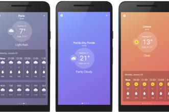 أحدث تطبيقات الطقس UltraWeather على أندرويد