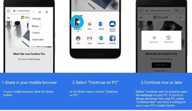 ويندوز 10 الآن يتيح ربط هاتفك بالكمبيوتر للمشاركة معه عالم