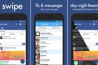 تحديث تطبيق Swipe for Facebook يدمج بين فيسبوك وماسنجرها