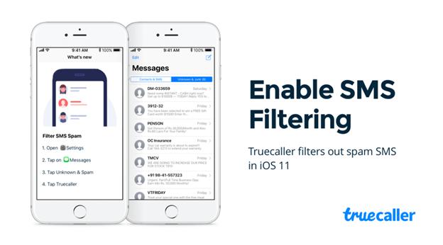 Truecaller يدعم تصفية الرسائل الغير مرغوب بها فيiMessage