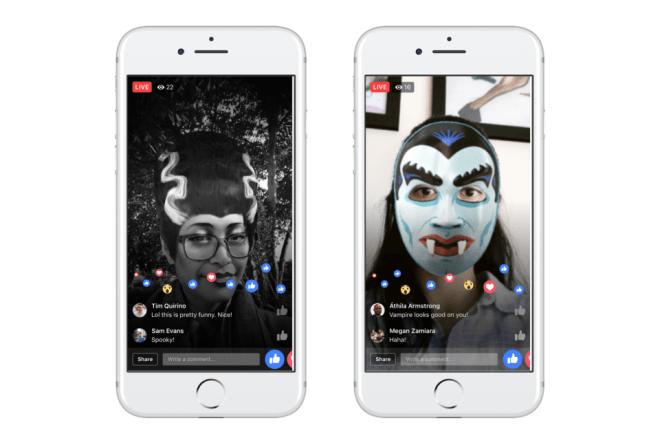 فيسبوك تطلق تأثيرات حيّة جديدة لتطبيقها فيسبوك وماسنجر