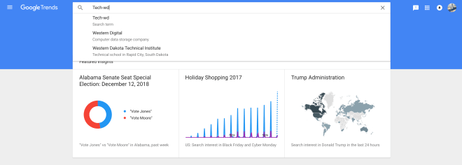 قوقل Google Trends