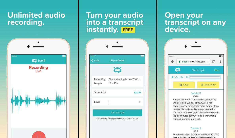 تطبيقTemi الجديد لتحويل الصوت إلى نص ومن ثم تحريره