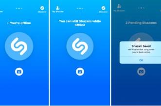 بعد ان استحوذت عليه أبل تطبيقShazam يأتي بوضع العمل أوفلاين