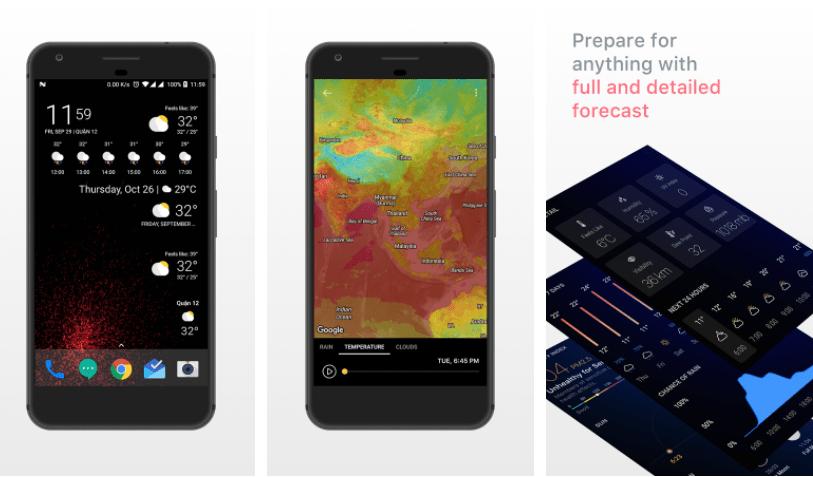 تحقق من حالة الطقس ببلدك مع تطبيق Today Weather في أندرويد