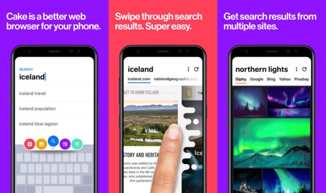 """إطلاق متصفحCake Browser السريع لجميع المستخدمين """"أندرويد   iOS"""""""