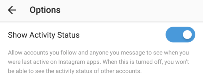 Instagram starts showing activity status in direct messages