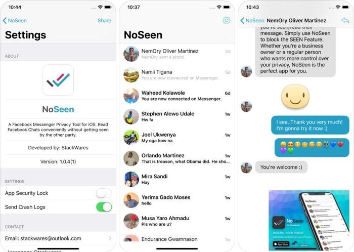 تطبيقNoSeen لقراءة رسائل فيسبوك دون إشعار المُرسل