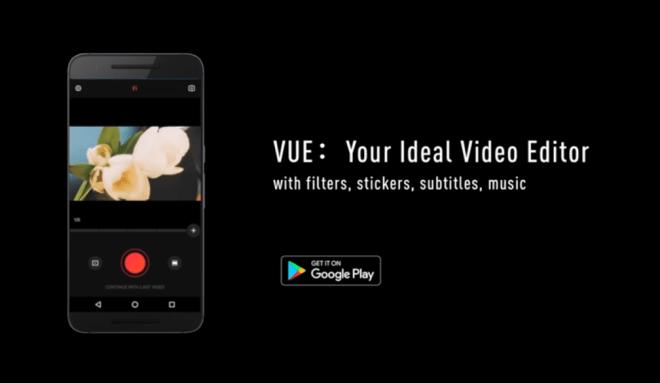 تطبيقVUE لصناعة فيديوهات قصيرة والتعديل عليها