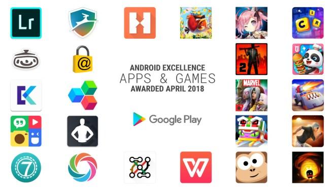 """تحديث قائمة التطبيقات والألعاب المميزة """"Android Excellence"""" في متجر قوقل بلاي"""