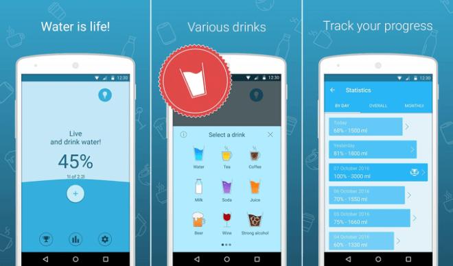 """my water collage 2 - هذه هي أفضل التطبيقات المجانية """"لنمط حياة صحية"""" على أندرويد وiOS"""