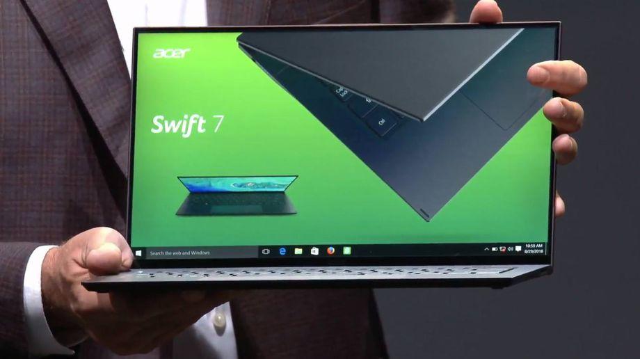 IFA 2018 : آيسر تكشف لابتوب Swift 5 ونسخة جديدة من أنحف لابتوب في العالم Swift 7