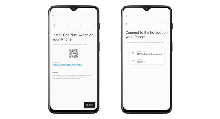 تطبيقOnePlus Switch يدعم الآن نقل البيانات إلى هاتف آيفون
