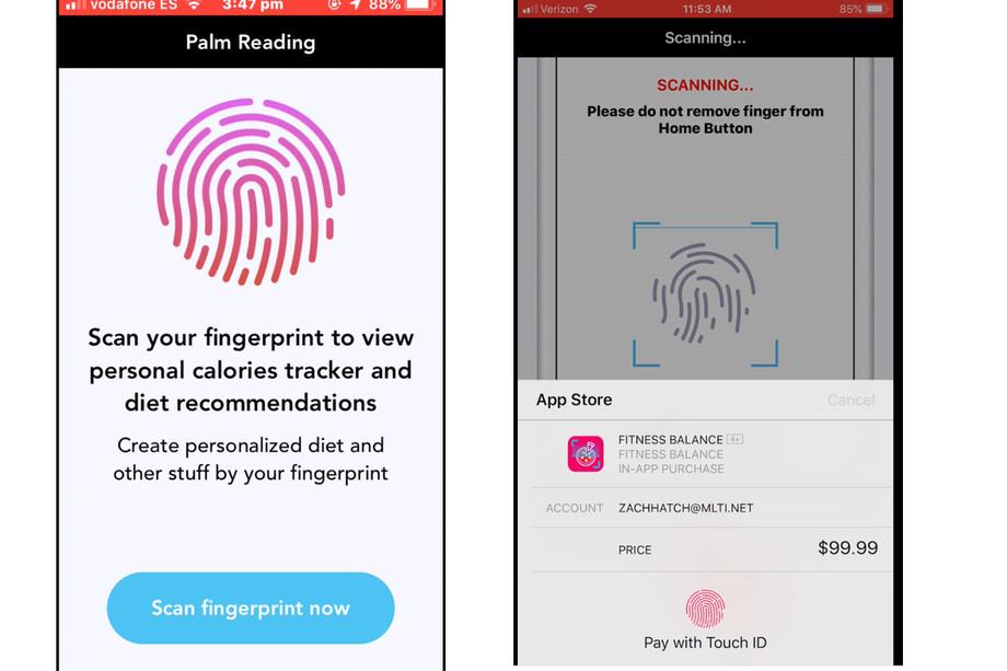 تطبيقات لياقة على iOS استغلت ميزة الحماية Touch ID وخدعت المستخدمين لدفع 99$
