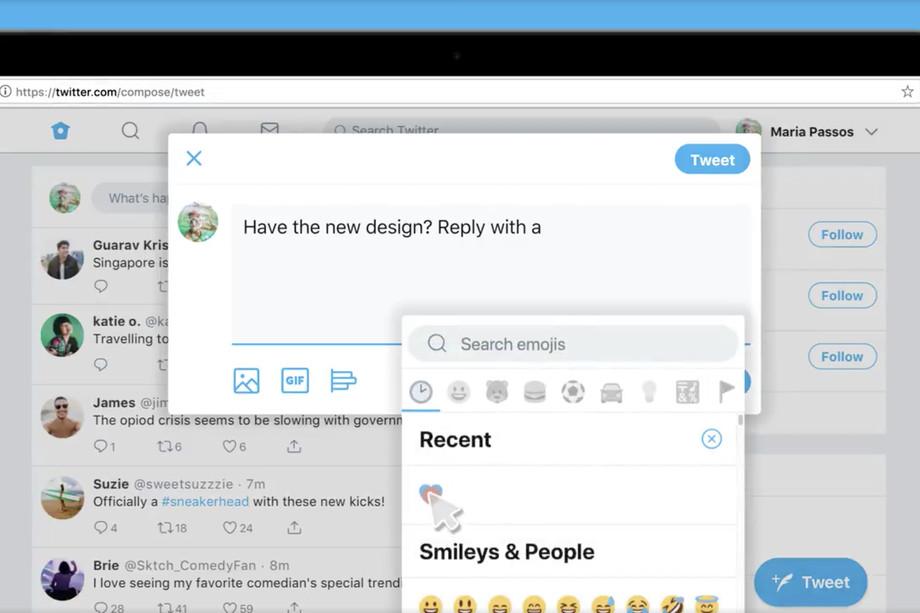 تويتر تطلق واجهة جديدة لنسخة الويب بعدد من الاختصارات الجديدة وأيقونة للرموز