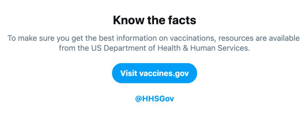 تويتر تلحق إنستقرام محاربة المعلومات Vaccinesprompt.png.i
