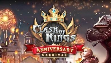 لعبة Clash Of Kings: تبدأ الاحتفال بالذكرى السنوية الخامسة الأن، قلب المملكة على وشك البداية!