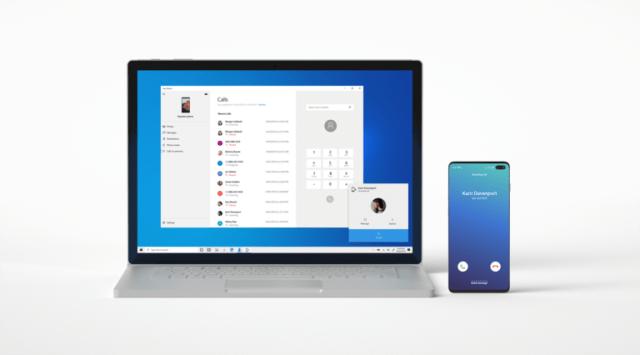 تطبيق Your Phone يتيح استقبال المكالمات من هاتف أندرويد على ويندوز 10