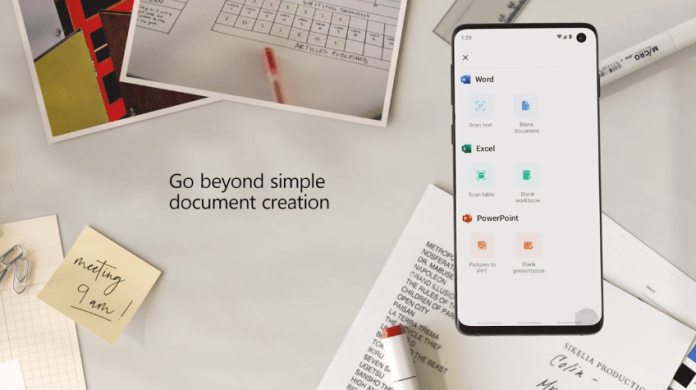 Microsoft merges its Word, Excel and PowerPoint applications into one Android app