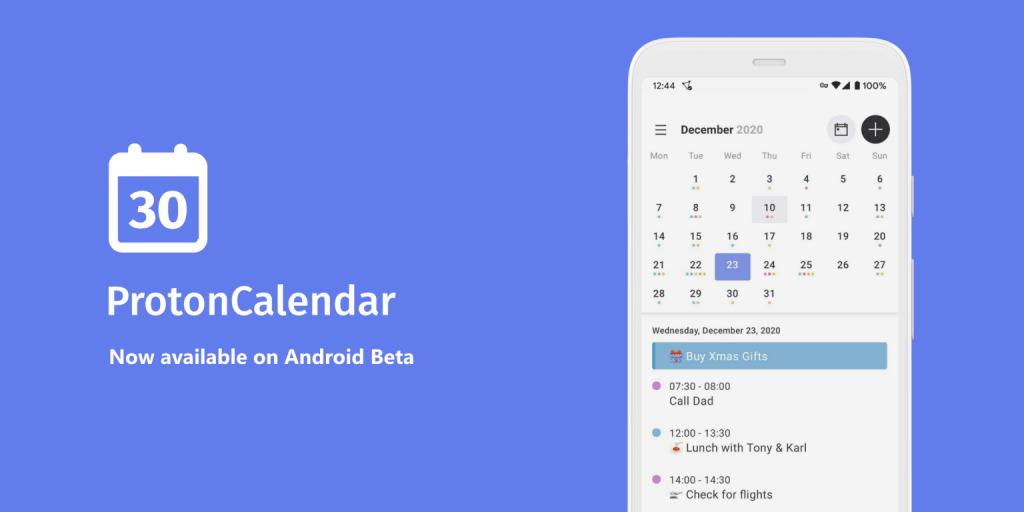 تطبيق التقويم المشفّر Proton Calendar متاح الآن على أندرويد