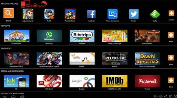 best android emulator for PC-bluestacks screen